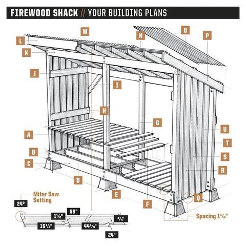 firewood shack