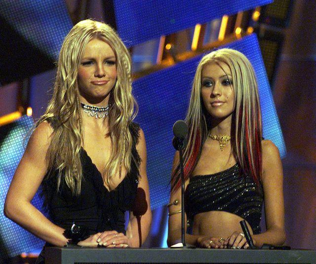 britney and christina at mtv video music awards 2000