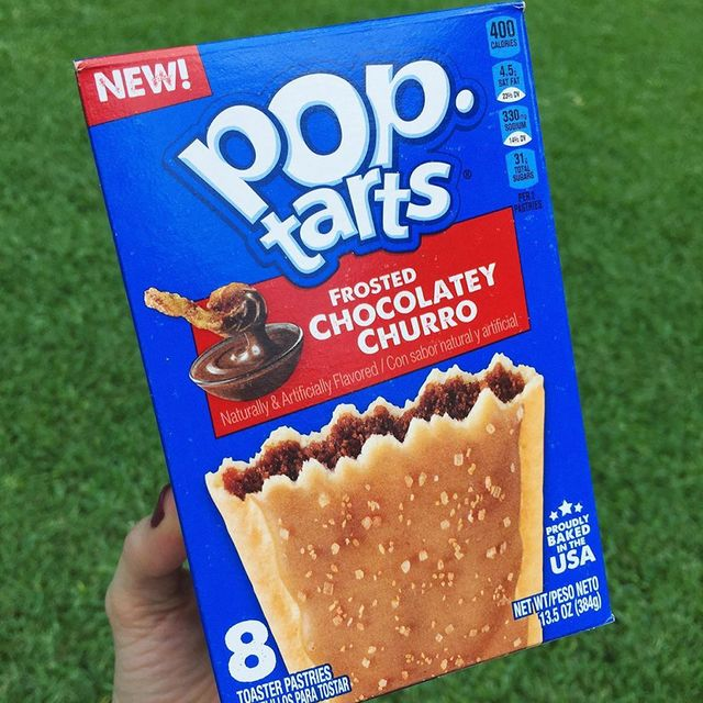 pop tarts frosted chocolatey churro pastries