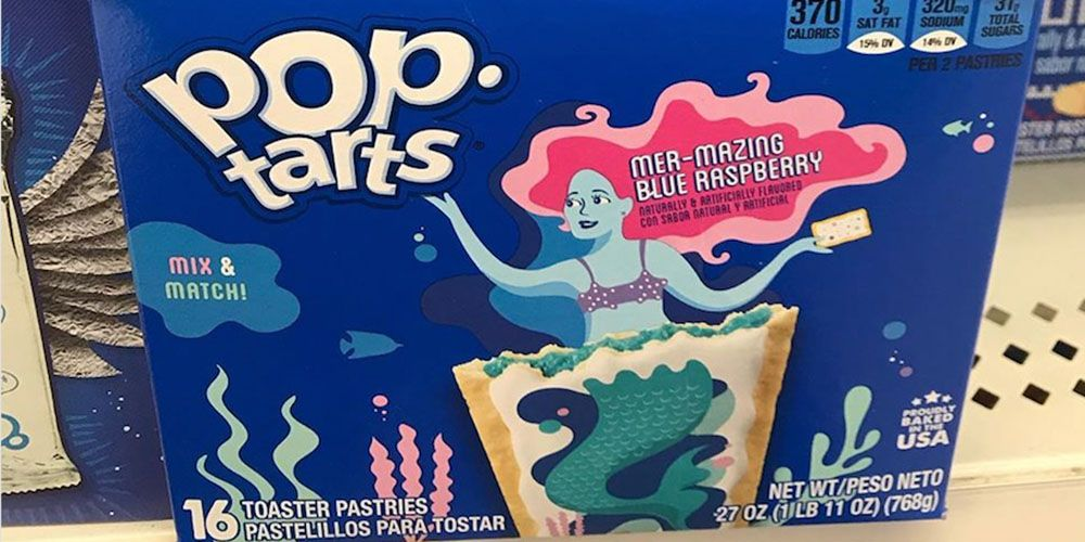 Pop-Tarts Just Released Mermaid Pastries With Blue Raspberry Filling