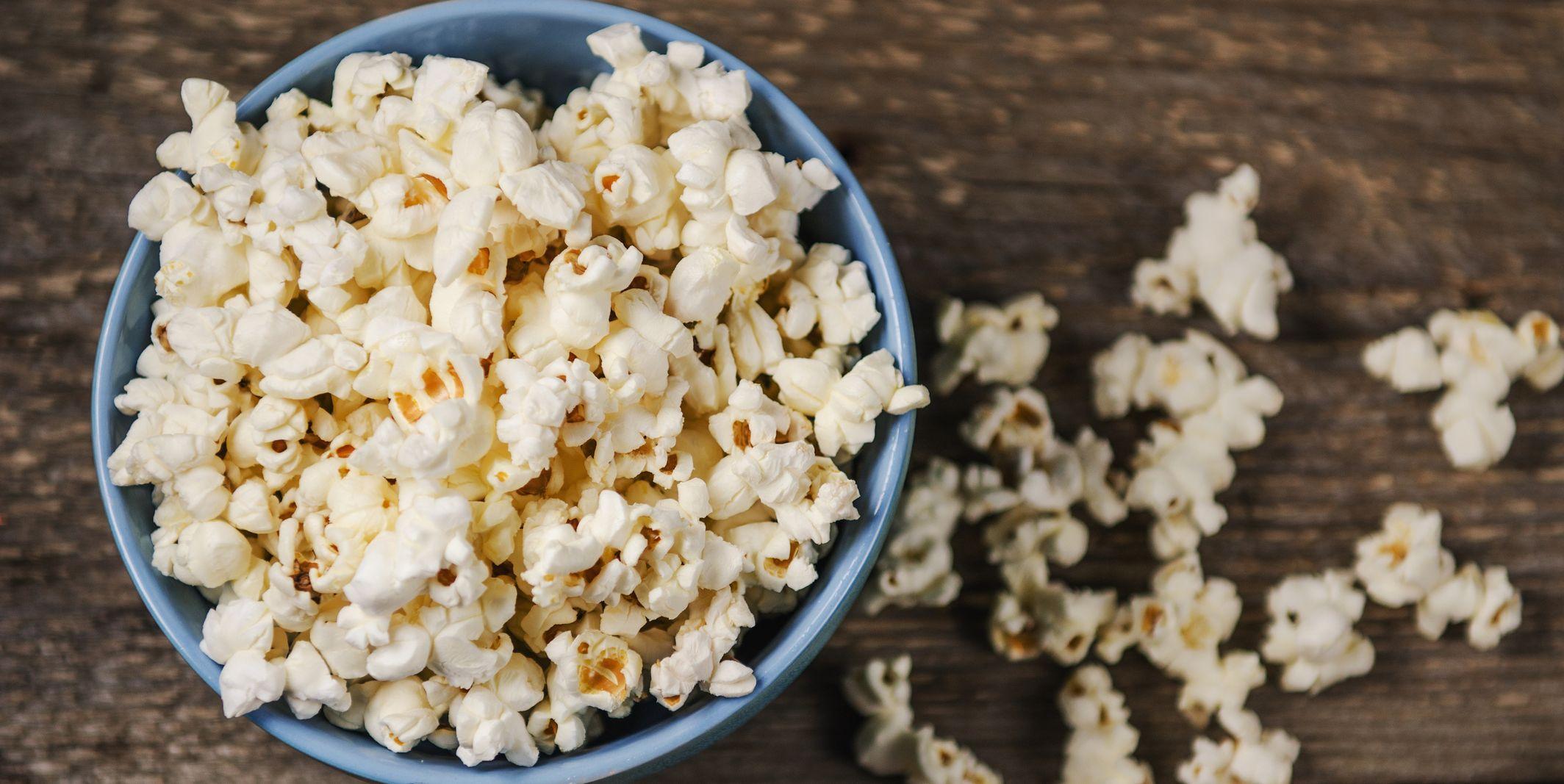 Popcorn bowl on table