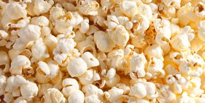 popped popcorn closeup