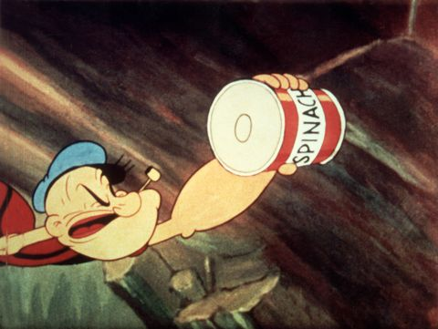 Popeye Reaching For Spinach