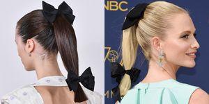 Poppy Delevingne, Emmys 2018,Emilia Wickstead, runway, catwalk,look,Emmys, bows, hairstyle, hair