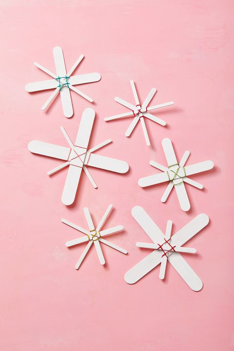 popsicle stick snowflake ornaments