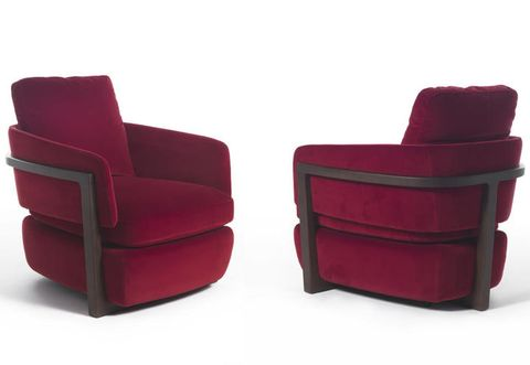 Red, Maroon, Rectangle, Leather, Armrest, Buckle, Strap,