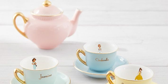 Every Belle, Ariel, and Jasmine Needs This Disney Princess Tea Set From Pottery Barn