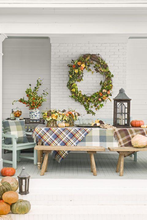 front porch ideas wreath