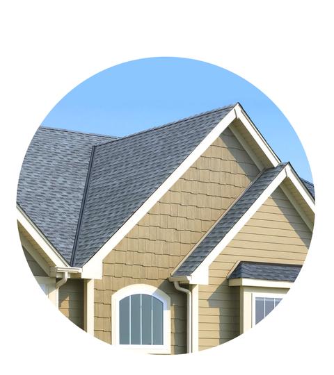 Das Haus hat die gute Hauswirtschaftsplombe gebaut - GAF-Dacheindeckung