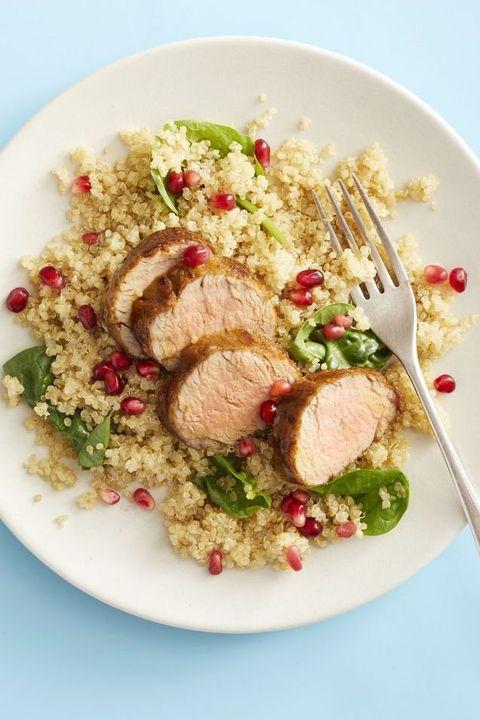 pork tenderloin with quinoa pilaf