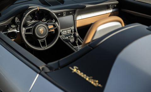Porsche 911 Speedster interior