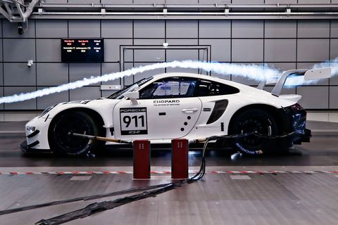 porsche 911 wind tunnel