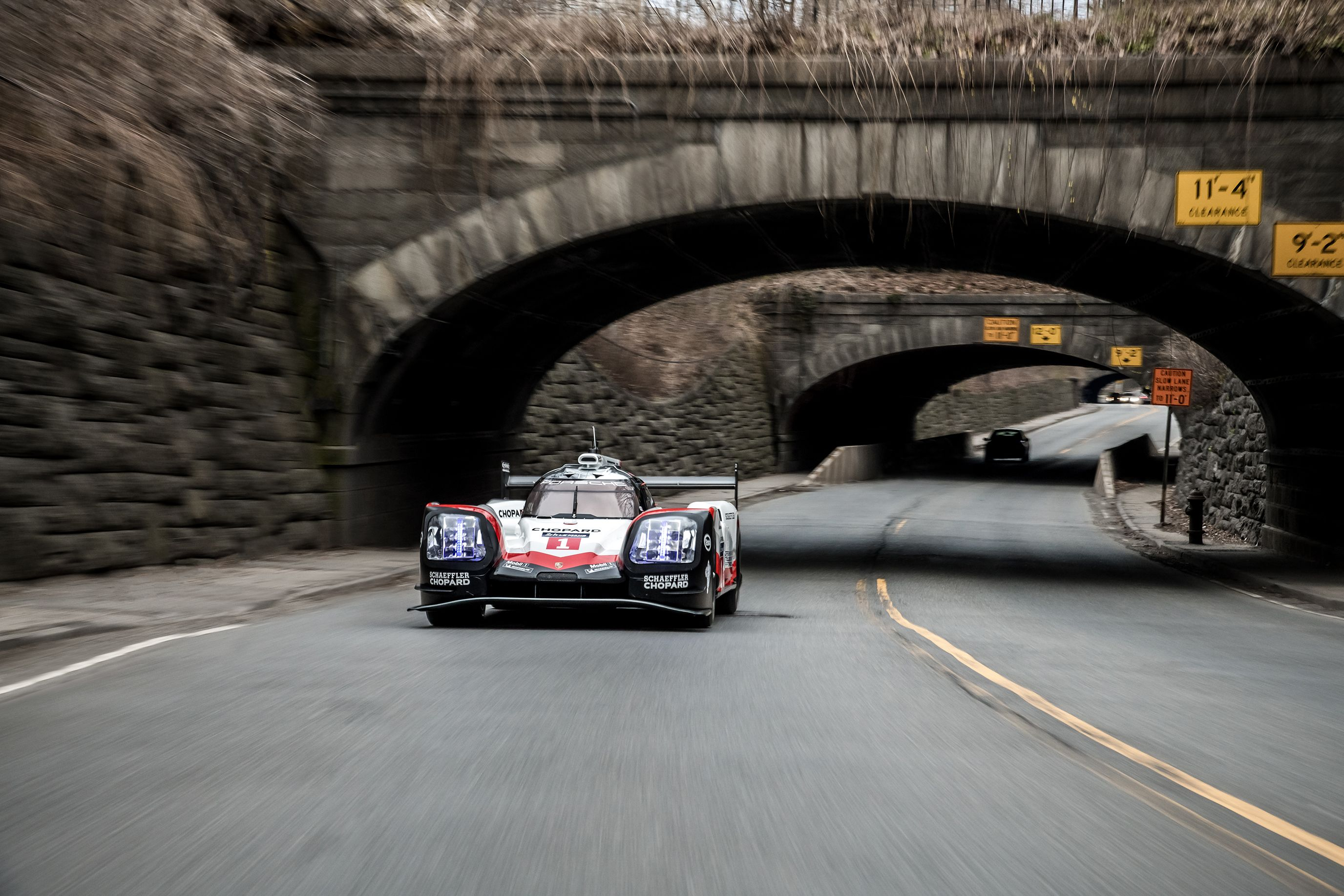 here's the porsche 919 on the streets of new york city