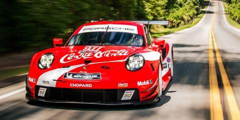 View Photos of Porsche's 911 RSR in Coke Livery