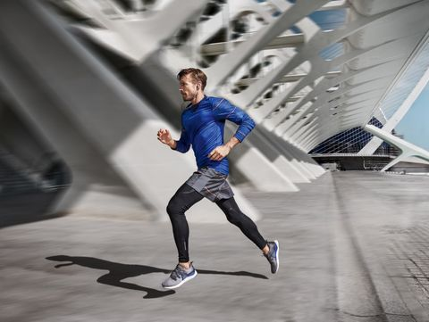 Blue, Running, Recreation, Footwear, Fashion, Shoe, Electric blue, Individual sports, Architecture, Exercise,
