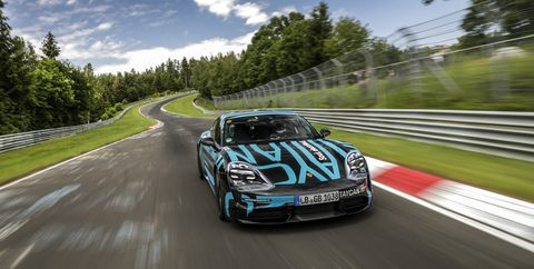 Porsche Might Be Sitting on a Faster Taycan Nürburgring Lap Time