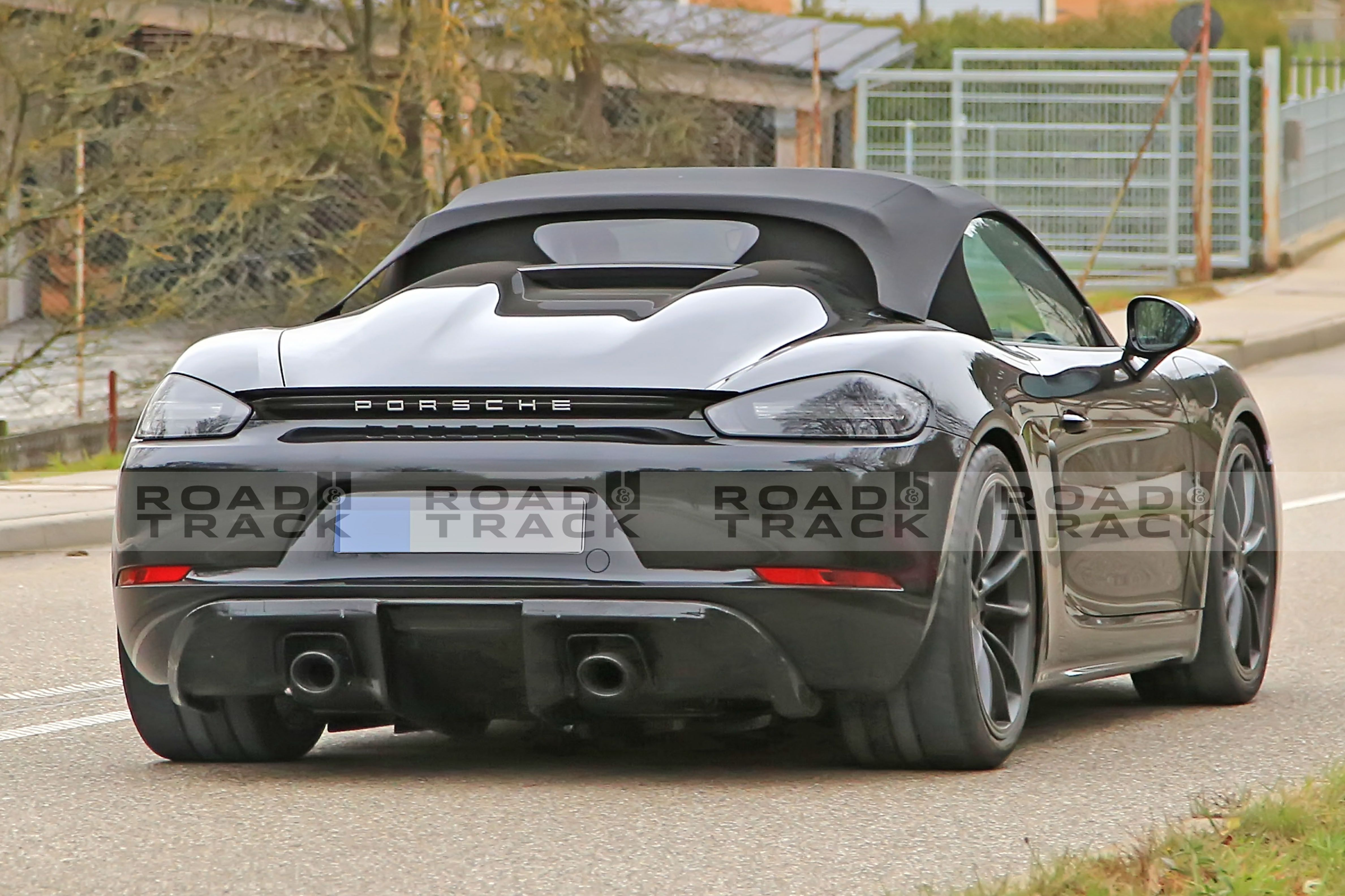 This Looks Like The New Porsche 718 Boxster Spyder