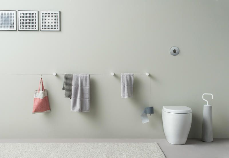 Porta asciugamani e porta carta igienica di design thermomat vi
