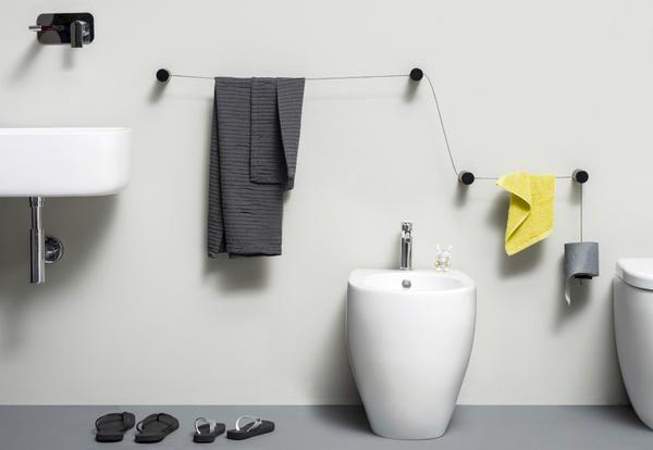 Porta Asciugamani Bagno Da Muro : Porta asciugamani e porta carta igienica di design thermomat vi