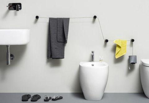 Porta asciugamani e porta carta igienica di design: thermomat vi stupirà