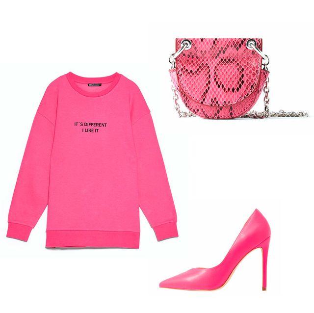 ropa rosa para el otoño