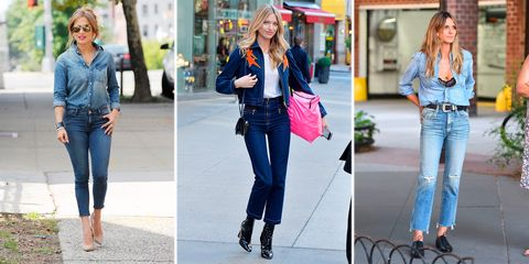 Jeans, Denim, Clothing, Street fashion, Jacket, Electric blue, Fashion, Footwear, Textile, Trousers,