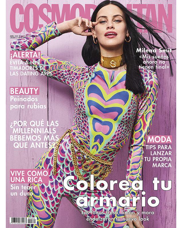 milena smit, portada de cosmopolitan abril