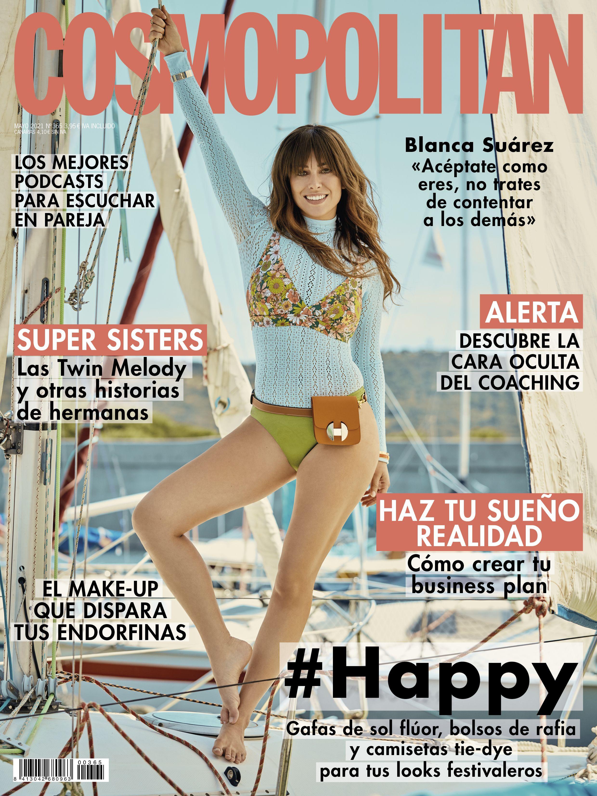 La actriz Blanca Suárez, portada de COSMOPOLITAN mayo