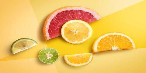 Citrus, Lime, Fruit, Citric acid, Food, Key lime, Lemon, Plant, Orange, Grapefruit,