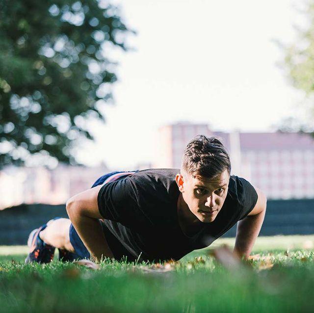 Grass, Sky, Fun, Summer, Press up, Sports training, Tree, Photography, Sunlight, Flip (acrobatic),