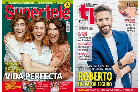 Portadas TP y Supertele. Vida perfecta y Roberto Leal