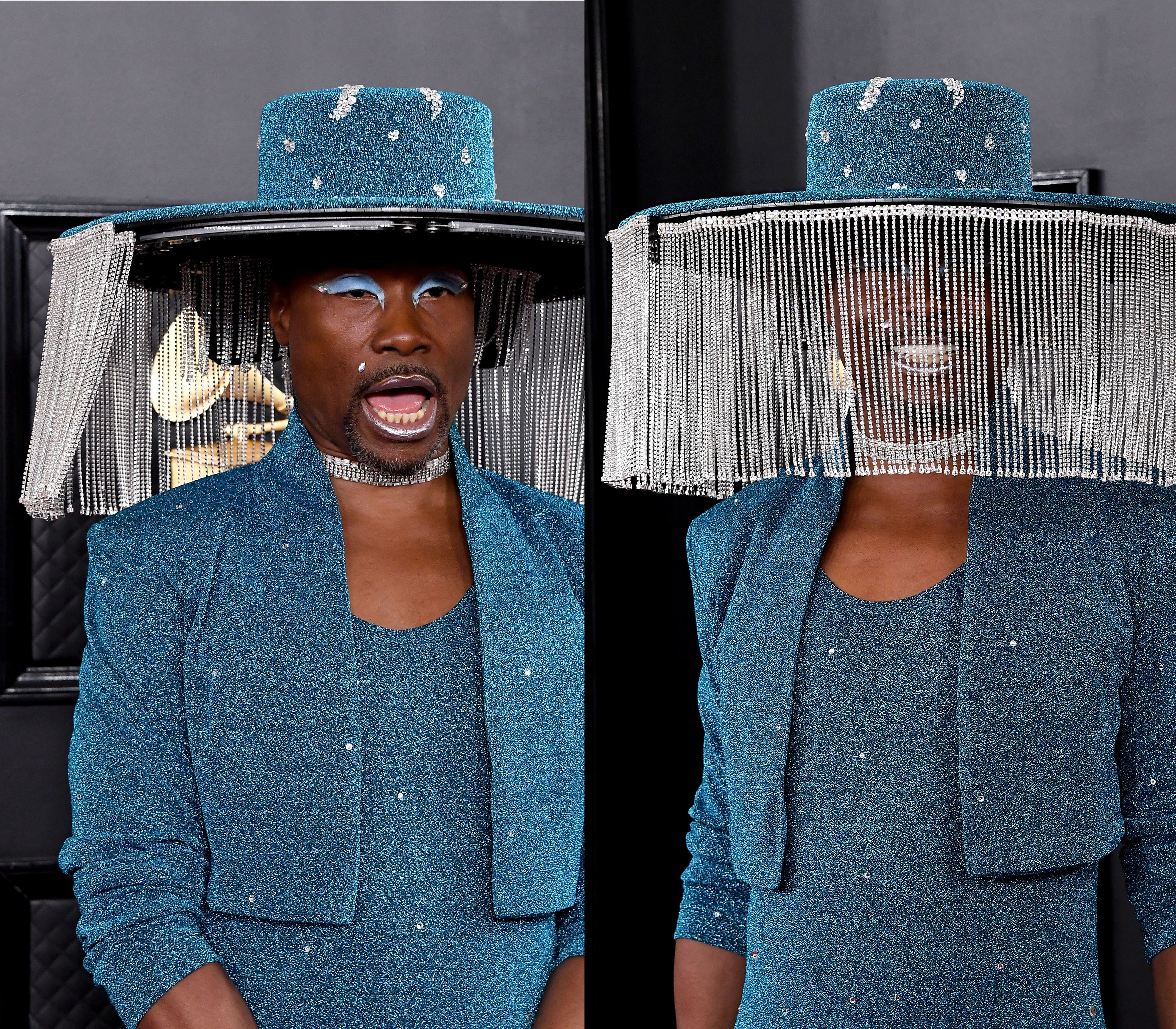Billy Porter's Grammys Hat Inspires the Perfect Meme for People Who Love Drama