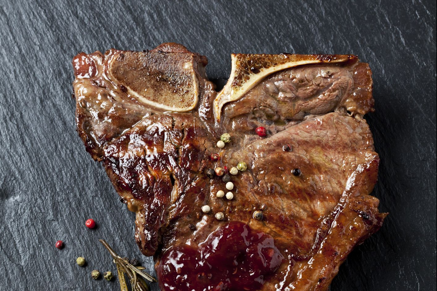 Porterhouse steak with herbs and spices