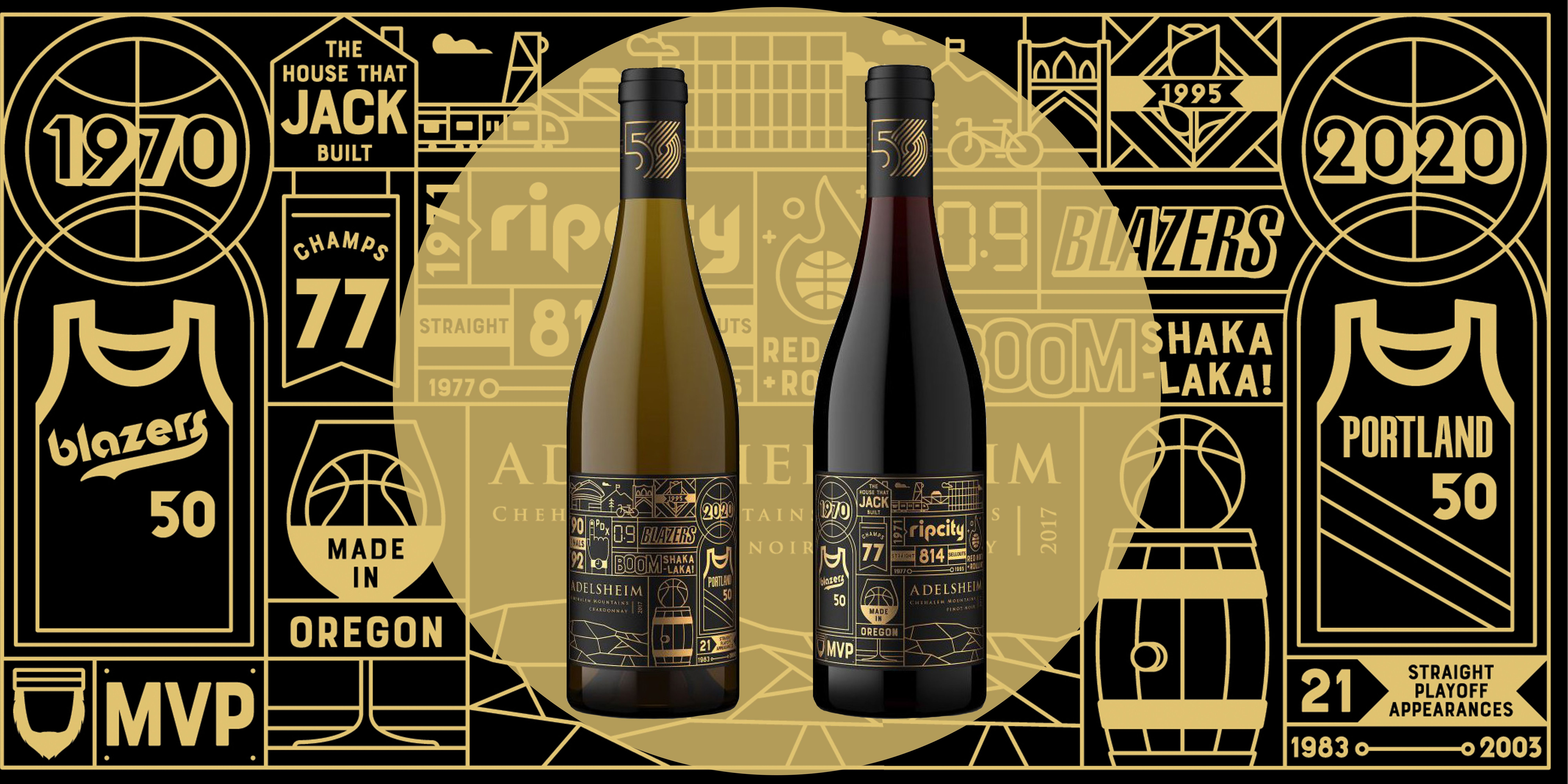 The Portland Trail Blazers Just Got Their Own Wine to Celebrate 50 Years of Basketball