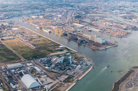 Porto Marghera Refinery. Italy.