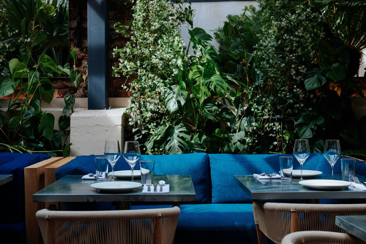 Alfresco dining at Gold in Notting Hill