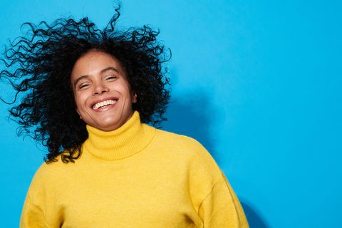portrait of a confident, successful, happy mature woman
