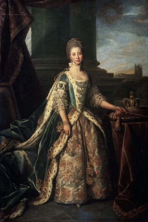 'portrait of charlotte of mecklenburg strelitz, wife of king george iii of england', 1773 artist nathaniel dance holland