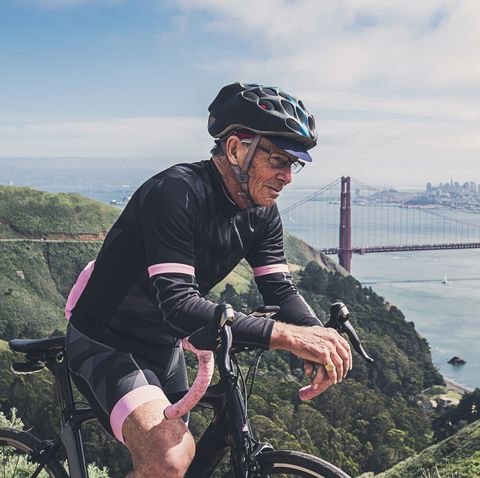 Portrait of Cyclist near San Fransisco