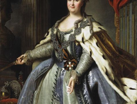 portrait of empress catherine ii 1729 1796, 1780s