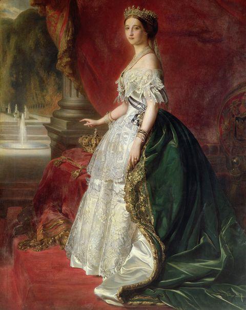Portrait of Empress Eugenie of France (1826-1920) (oil)