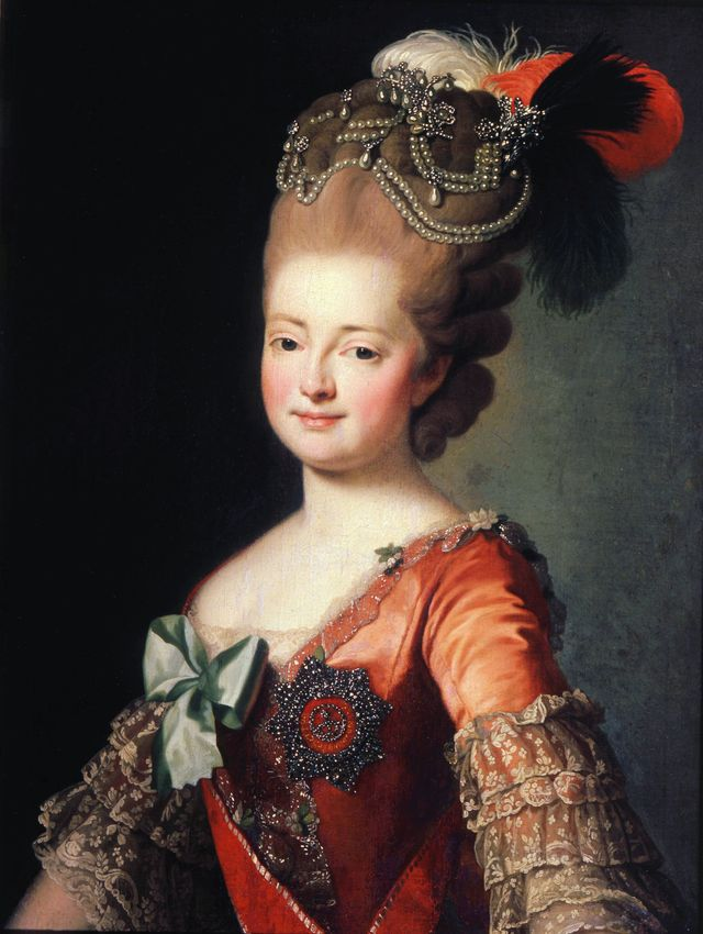 'portrait of empress maria feodorovna', late 18th or early 19th century artist anon