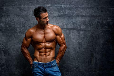 Portrait of Handsome Muscular Men Outside