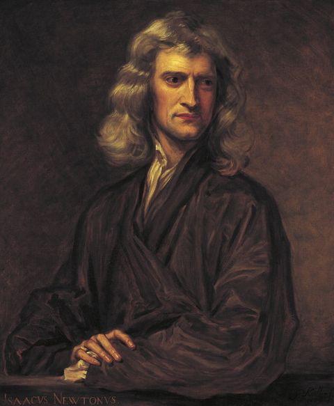 Retrato de Isaac Newton ...