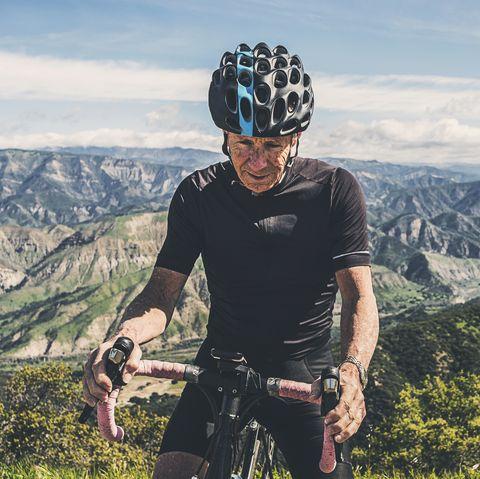 Portrait of Senior Cyclist