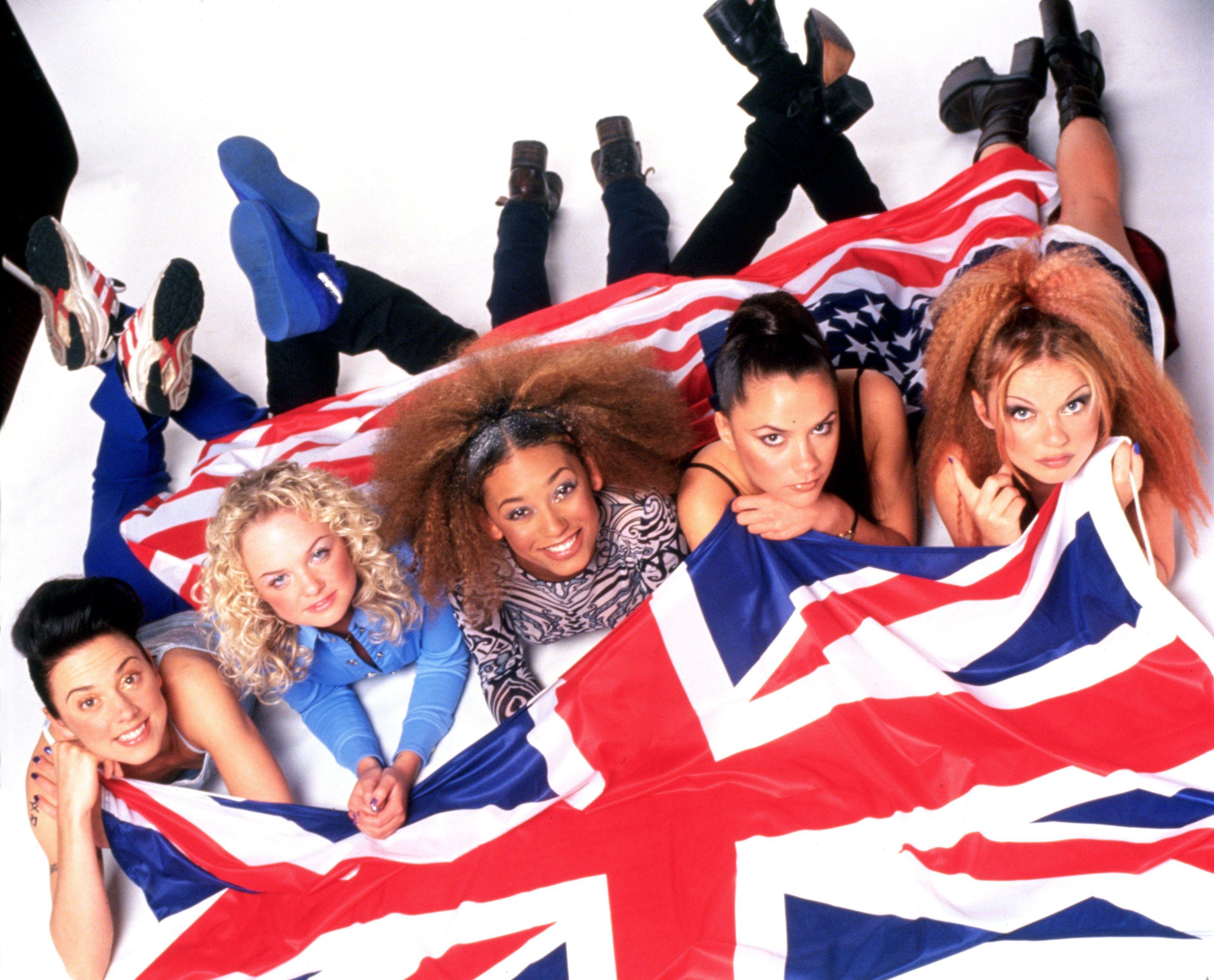 Ginger Spice Girls Costume 90s Union Jack Ladies Womens Fancy Dress