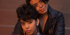 Portrait of Two Confident Woman Friends