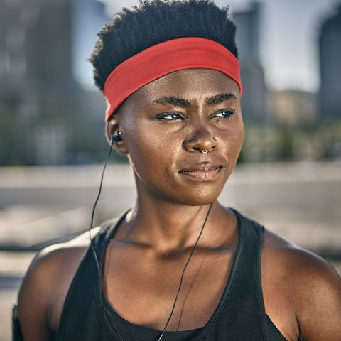 Portrait of young female runner