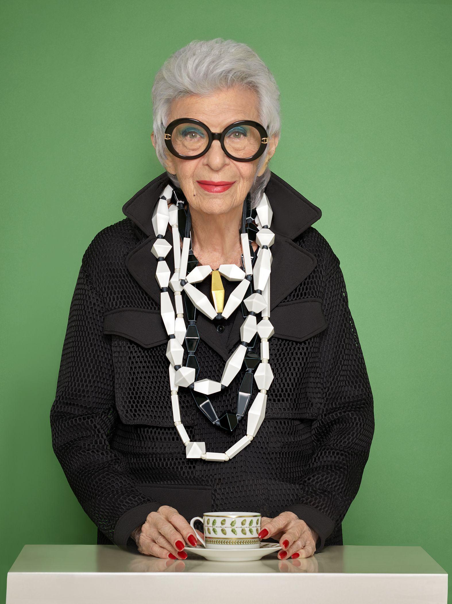 Perennial Rule-Breaker Iris Apfel Designs Jewelry Collection with Bernardaud