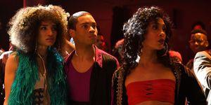 Pose episode 1: Angel (INDYA MOORE), Damon Richards (RYAN JAMAAL SWAIN), Blanca Rodriguez (MJ RODRIGUEZ)